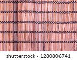 background from the bamboo mat   Shutterstock . vector #1280806741