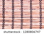 background from the bamboo mat   Shutterstock . vector #1280806747