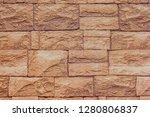 closeup of a brick wall...   Shutterstock . vector #1280806837