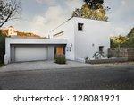 nice white family house | Shutterstock . vector #128081921