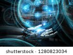 intelligent robot machine using ... | Shutterstock . vector #1280823034