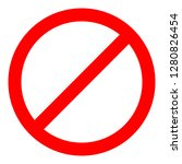 red prohibition sign. not allow ... | Shutterstock .eps vector #1280826454