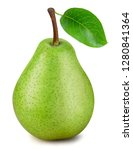pears with a leaf isolated on... | Shutterstock . vector #1280841364