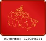 map of canada | Shutterstock .eps vector #1280846191