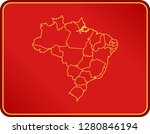 map of brazil | Shutterstock .eps vector #1280846194