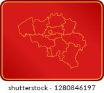 map of belgium | Shutterstock .eps vector #1280846197