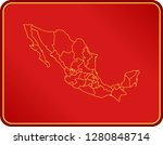 map of mexico | Shutterstock .eps vector #1280848714