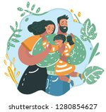 vector cartoon illustration of... | Shutterstock .eps vector #1280854627
