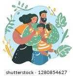vector cartoon illustration of... | Shutterstock .eps vector #1280854627