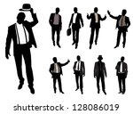 fashionable men | Shutterstock . vector #128086019