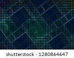 illustration shiny digital...   Shutterstock . vector #1280864647