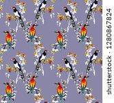 watercolor seamless pattern... | Shutterstock . vector #1280867824