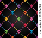 multicolor seamless pattern... | Shutterstock .eps vector #128086889