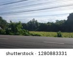 Small photo of Inordinate electric wires in countryside,Thailand