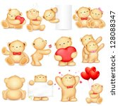 illustration of teddy bear in... | Shutterstock .eps vector #128088347