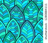 seamless abstract pattern.... | Shutterstock .eps vector #1280884111