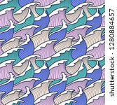 seamless abstract pattern.... | Shutterstock .eps vector #1280884657