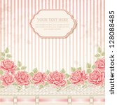 Vintage Background With Roses....