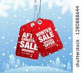 winter sale banner template... | Shutterstock .eps vector #1280888644