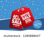 winter sale banner template... | Shutterstock .eps vector #1280888647