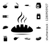 bread  hot  loaf icon. simple...
