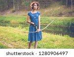young and beautiful elf walks... | Shutterstock . vector #1280906497