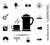 tea  teapot  cup icon. simple...