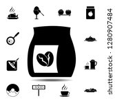 coffee  bag  grains icon....