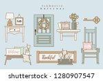 set of vector illustrations... | Shutterstock .eps vector #1280907547