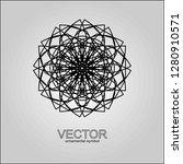 vector  round pattern... | Shutterstock .eps vector #1280910571