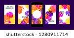stories template design. tropic ... | Shutterstock .eps vector #1280911714