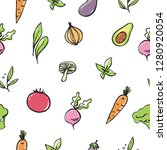 seamless vector pattern with... | Shutterstock .eps vector #1280920054