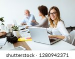 view at business people... | Shutterstock . vector #1280942371