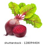 isolated beetroot. one fresh...