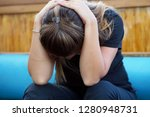 people  grief and domestic... | Shutterstock . vector #1280948731