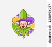 Fun Jester With Fleur De Lis...
