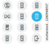 illustration of 12 telephone... | Shutterstock . vector #1280968927