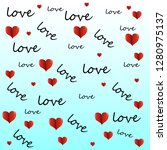 repeating hearts  round dots... | Shutterstock .eps vector #1280975137