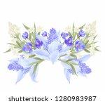 exotic flower illustration    Shutterstock . vector #1280983987