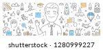 vector line web banner for... | Shutterstock .eps vector #1280999227