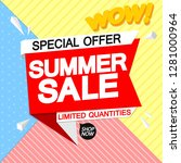 summer sale  special offer ... | Shutterstock .eps vector #1281000964