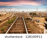 Rails Under The Sky Background