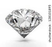 diamonds isolated on white 3d... | Shutterstock . vector #128101895