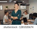portrait of sucher colleagues... | Shutterstock . vector #1281020674