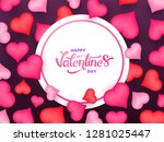 happy valentine's day poster or ... | Shutterstock .eps vector #1281025447