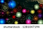 colorful signal wireless... | Shutterstock . vector #1281047194