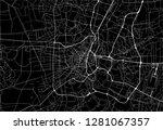 dark area map of bangkok ... | Shutterstock .eps vector #1281067357
