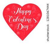 set of heart shaped valentine...   Shutterstock .eps vector #1281067444