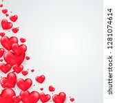 valentine's day background with ... | Shutterstock .eps vector #1281074614