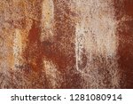 grunge rusted metal texture.... | Shutterstock . vector #1281080914
